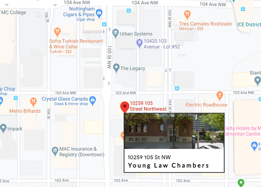 Young Law Chambers Contact Map